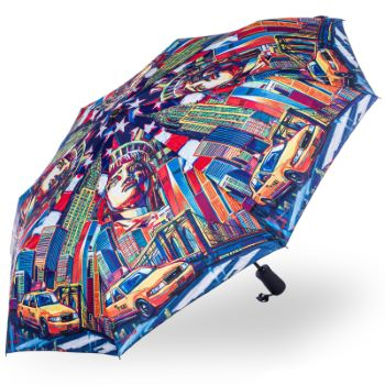 Stormking Automatic Open & Close Folding Umbrella - City Collection - New York in Colour