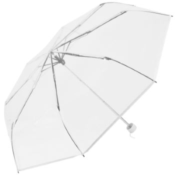 Soake Clear Folding Umbrella - White