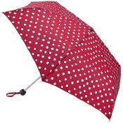 Lulu Guinness Minilite Folding Umbrella - Polka Pearls