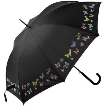 Colour Changing Butterflies Automatic Walking Length Umbrella