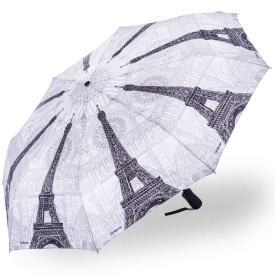 Stormking Automatic Open & Close Folding Umbrella - City Collection - Paris Mono