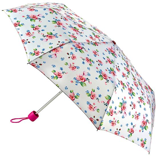 Fulton Minilite Folding Umbrella - Watercolour Blossom