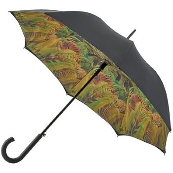 The National Gallery Bloomsbury Double Canopy Umbrella - Surprised! by Rousseau