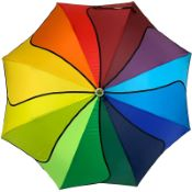 Rainbow Swirl Walking Length Umbrella by Soake