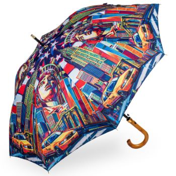 Stormking Classic Walking Length Umbrella - City Collection - New York in Colour