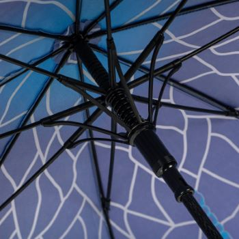 Stormking Classic Walking Length Umbrella - Nature Collection - Blue Stained Glass Dragonfly