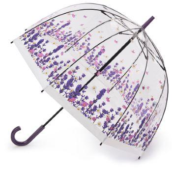 Fulton Birdcage Clear Dome Umbrella - Flower Field