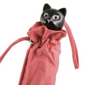 Cat Folding Umbrella by Rainbow of Milan - Dusky Pink