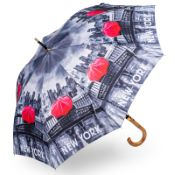 Stormking Classic Walking Length Umbrella - City Collection - New York Mono