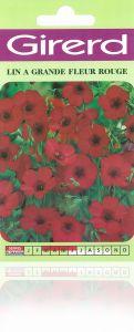 Lin annuel à grande fleur rouge  sachet  3 g