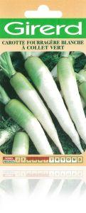 CAROTTE FOURRAGERE blanche à collet vert Pqt  25 g