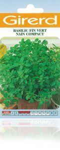 Basilic fin vert nain compact sachet 2 g